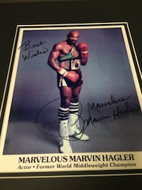 Marvelous Marvin Hagler Authentic Autographed Collectible Picture ALEXANDRIA