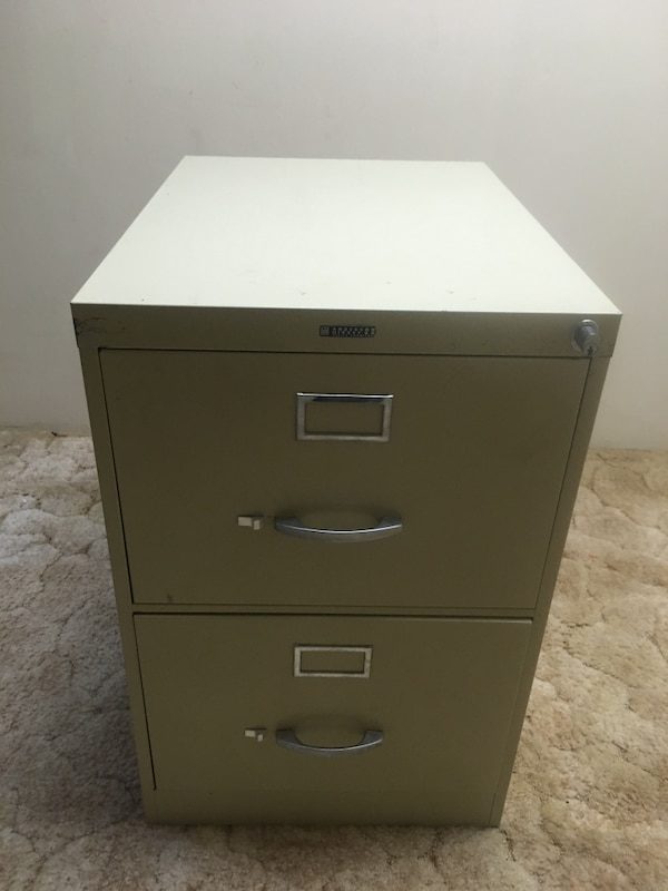 2 Drawer Legal File Cabinet By Anderson Hickey Co Usati In Vendita A