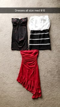 women's red and black dress