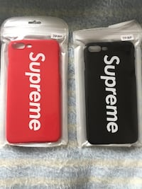 Red And Black Supreme Cases iPhone 7 Plus And iPhone 8 Plus  GUELPH