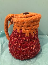 Hand woven cloth vase