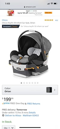 Car seat Waltham, 02453
