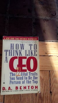 How To Think Like A Ceo 2 book Riverdale Park, 20782