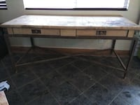 Wood and metal desk table Santa Clarita, 91387