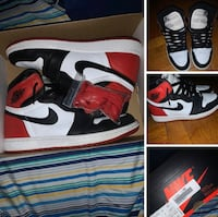 Satin black toe 1s Clifton