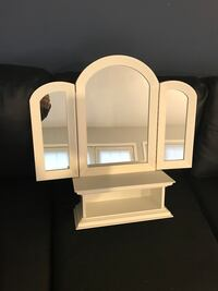 white wooden framed wall mirror Chantilly, 20151