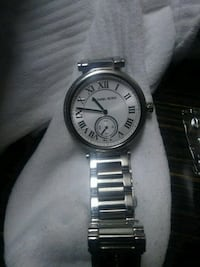 round silver Michael Kors chronograph watch with silver link bracelet Murfreesboro, 37129