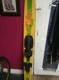 yellow snowboard