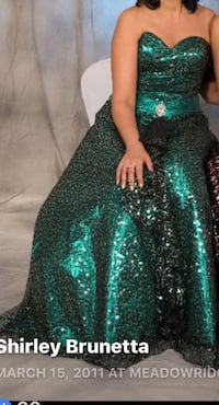 Green sparkling gown - great for grad dress or Gala paid $400 Maple Ridge, V4R 2W6