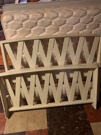 2 twin bed frames with mattresses