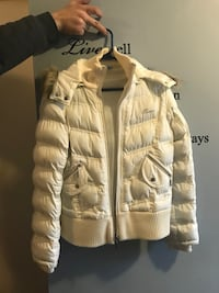 White zip-up Guess jacket - L