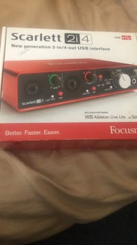 Scarlett audio interface Washington, 20020