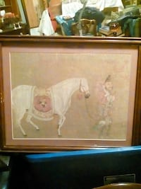man pulling a white horse painting Pineville, 71360