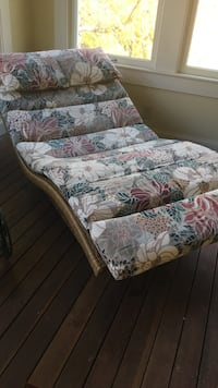 Lane venture double chaise wicker lounge chair