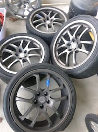 """4 Forged Rays Infiniti G35 OEM 19"""" Staggered Wheel Springfield, 22150"""