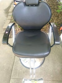 black leather padded rolling armchair Richmond