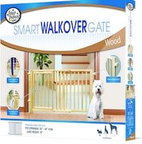 New!! Four Paws Walk Over Wooden Dog Gate, 30-44-Inch Wide by 18-Inch High St Thomas, N5R 6M6