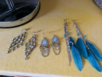pair of silver and blue earrings Laval, H7V 1J7