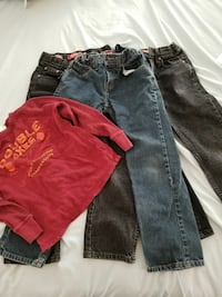 Boys size 8 reg jeans (all 3 jeans and shirt  $5) Chaparral, 88081