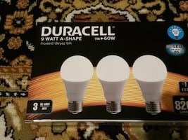 3 AD DURACELL LED AMPUL SIFIR BEYAZ ISIK