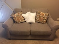 Brand new taupe love seat. Never sat on. Doesn't match decor. Can deliver for extra. Contact me if interest