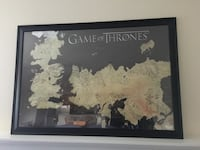 Game of thrones map poster with black frame Mc Lean, 22102