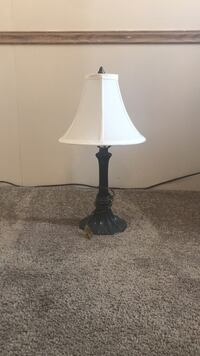 black base white shade table lamp Heber City, 84032