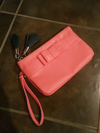 Peach corral mini handbag wristlet Andover