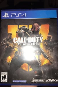 Never used call of duty black ops 4 playstation 4 game