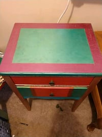 green and pink wooden table Odessa, 79762