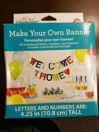 Make your own banner for parties