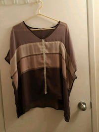 brown and black scoop-neck long-sleeved shirt Edmonton, T5A 4S4