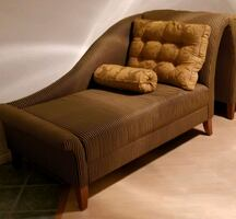Two Chaise Lounges Gold/Black by ThomasVille