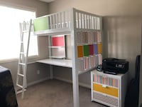 Bunk bed with desk, from California