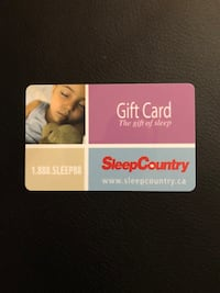 $325 Sleep Country Gift Card North Vancouver, V7R 1J2