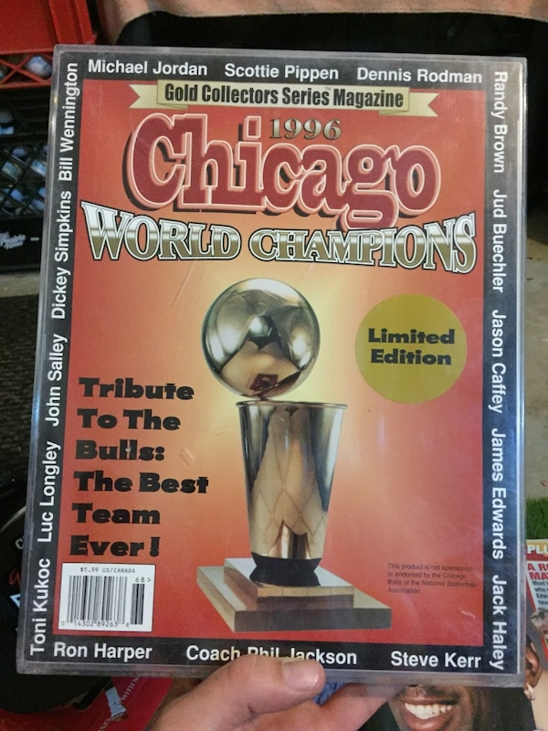 31202fd4a7a4fe gold collector s series magazine 1996 chicago world champions magazine. HomeUsed  Sports ...