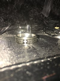 Spinning ring with Latin prayer size 10 Calgary, T2A 7R1
