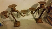 Iron candle stands asking 40$ for both  Oshawa