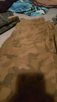 brown and beige camouflage cargo shorts Acton, L7J 1P8