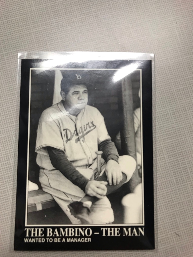 Photo Babe Ruth authentic baseballs card