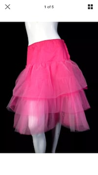 Chocolate small skirt tutu crinoline pink artsy tiered  Hamilton, L8L 1X4