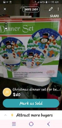 Christmas dinner plates set for 2 Las Vegas, 89130