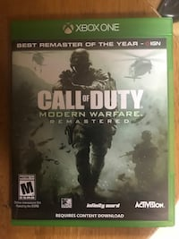 Call of duty 4 remastered Xbox one  Fort Wright, 41011