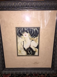 painting of woman with black wooden frame Virginia Beach, 23451