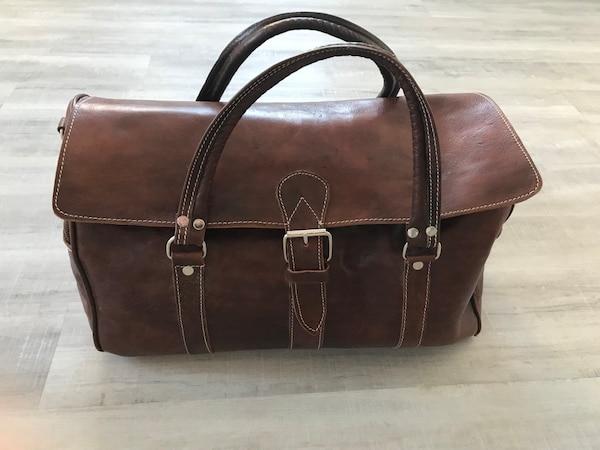 Moroccan Leather Travel Bag (genuine leather)