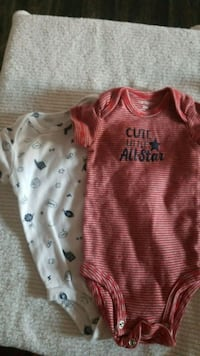 Brand New 3mo. Carter's Onesie Set of 2 Las Vegas, 89183