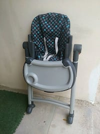 baby's gray and blue high chair McAllen, 78504