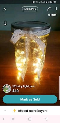 12 fairy light jars Toronto, M6L 1Z1