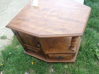 brown wooden TV stand Fort Wayne, 46802