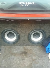 gray and white dual subwoofer Toledo, 43620